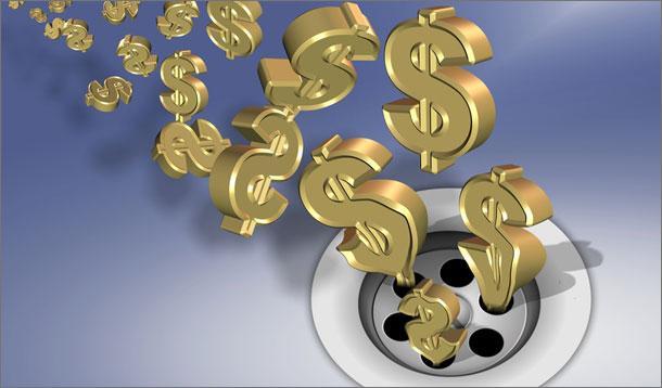 money_down_the_drain